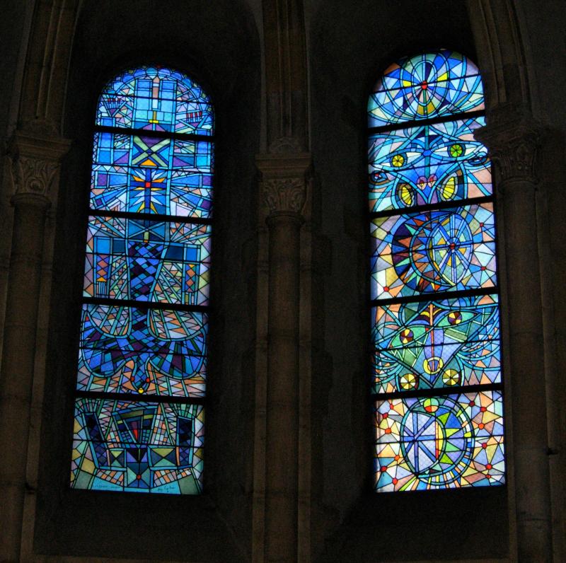 vitraux de Cocteau à Saint Maximin, metz