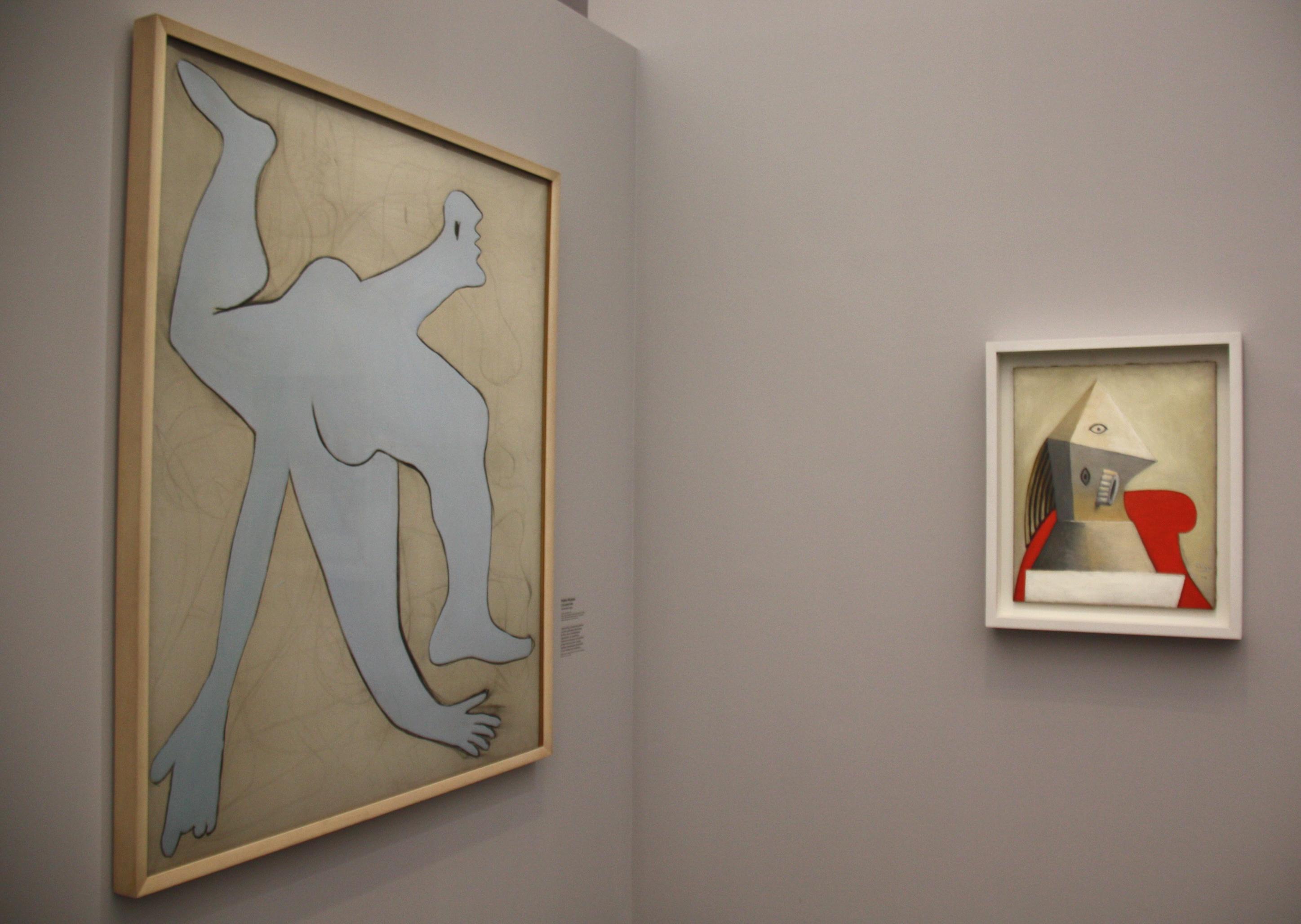 Picasso, l'acrobate et femme au fauteuil rouge, 1929 , centre pompidou-metz, expo lierais