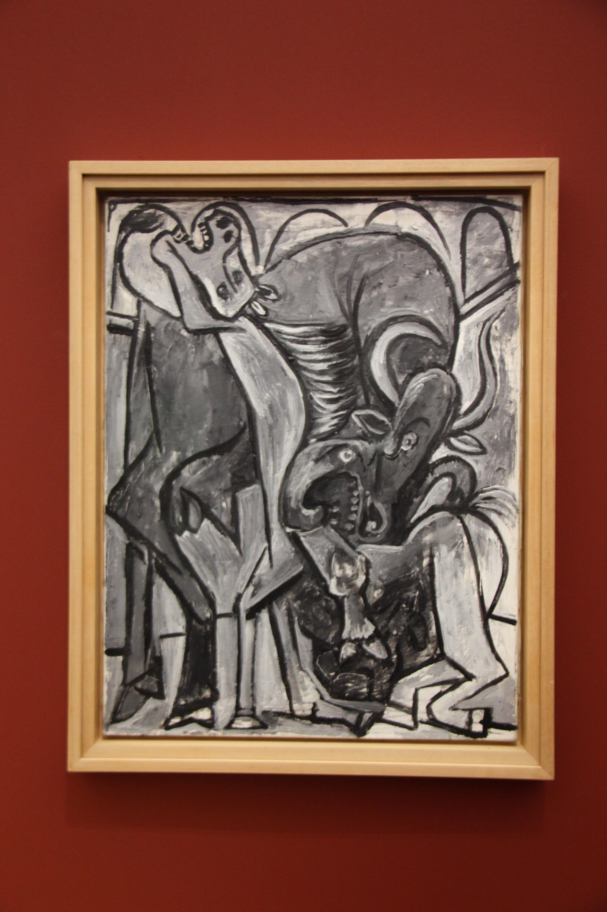 Pablo Picasso, cheval et taureau, 1934, exposition-leiris-centre-pompidou-metz