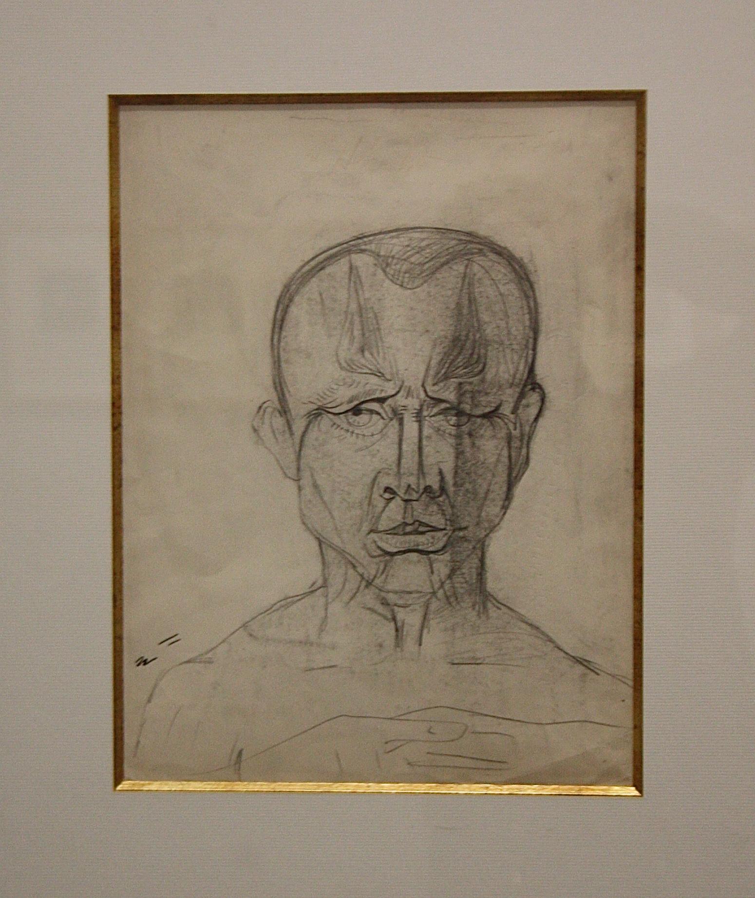 André Masson, 1935, portrait de Michel Leiris, centre pompidou-metz