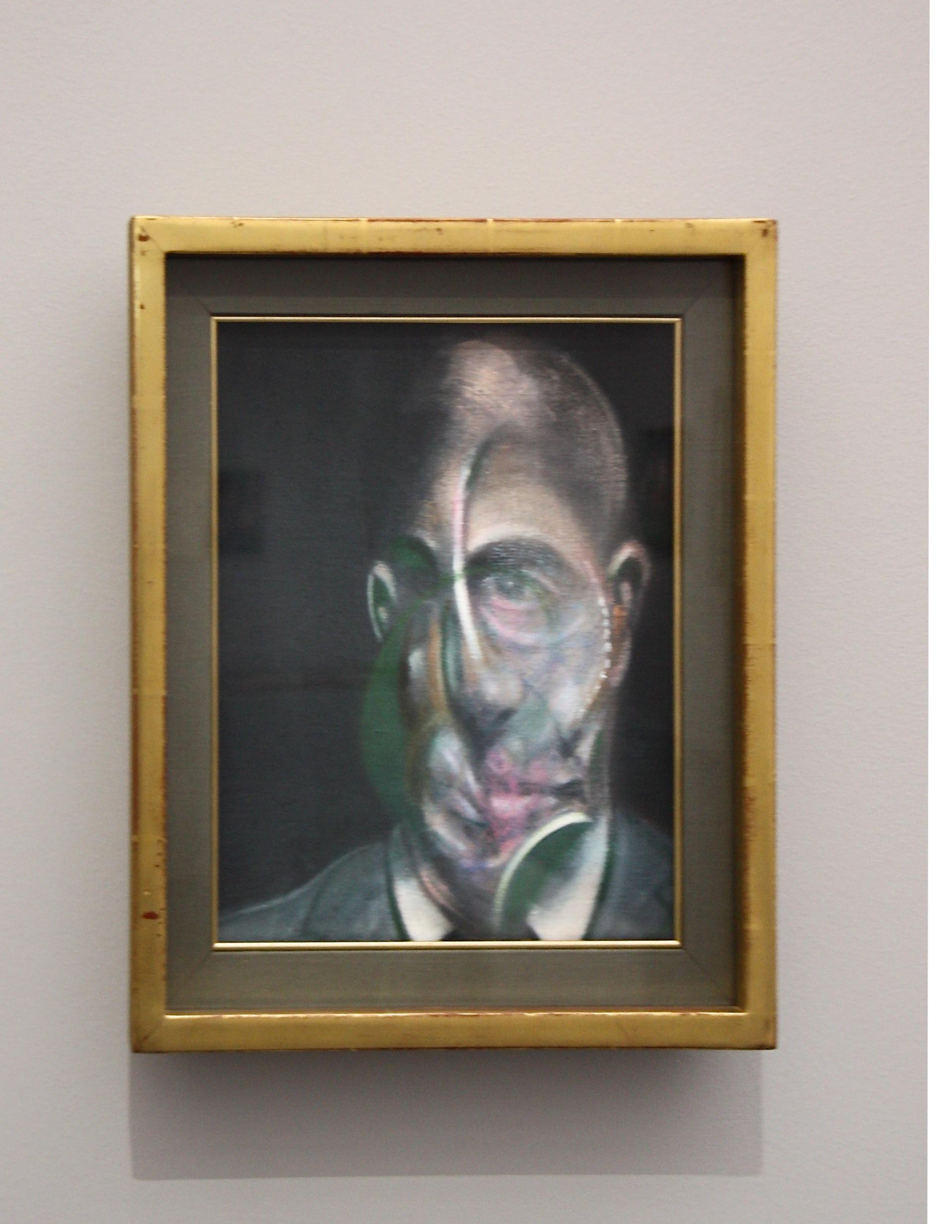 Francis Bacon, portrait de Michel Leiris, 1976, centre pompidou-metz