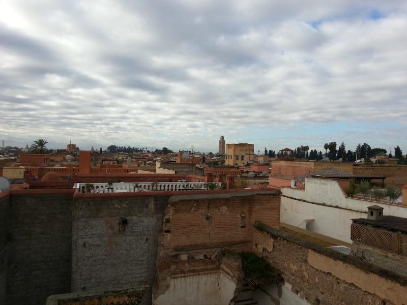 vue des toits de la médina, Marrakech