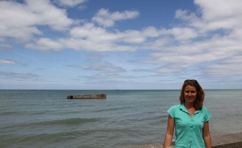 Vue sur la mer à Arromanches, plage du débarquement