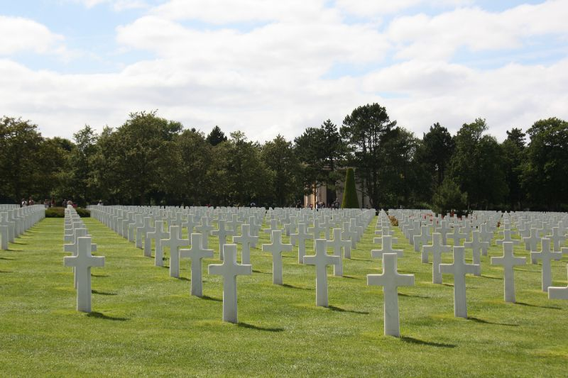 le cimetière américain de Colleville sur mer