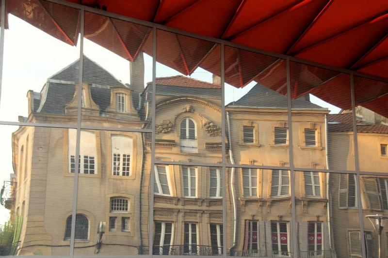 reflet d'immeuble, galeries lafayettes