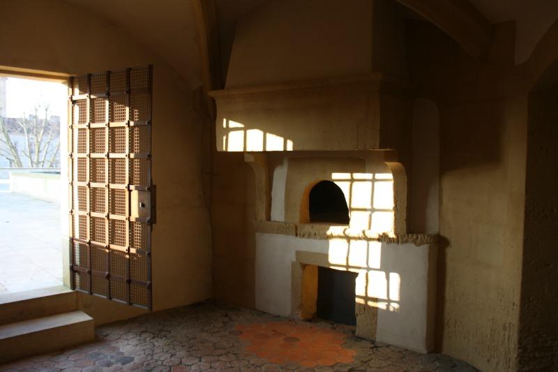 la chambre de tir et l'accès à la terrasse