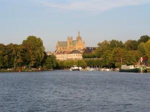 Vue de Metz, plan d'eau